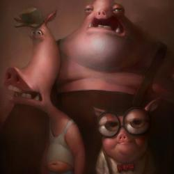 Three Little Pigs - Fine Art